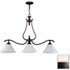 DVI 9-in Devonshire 3-Light Oil-Rubbed Bronze Island Light