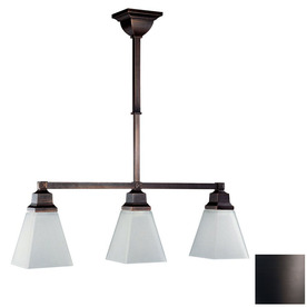 DVI Aurora 5.50-in W 3-Light Oil-Rubbed Bronze Kitchen Island Light with Shade