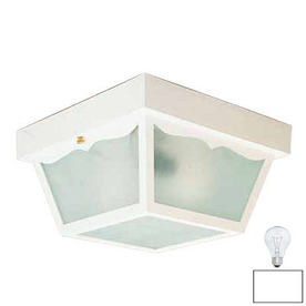 Volume International 8-1/4-in White Outdoor Flush Mount Light