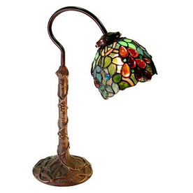 Warehouse of Tiffany 19-in Desk Lamp with Tiffany-Style Shade