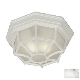 Kenroy Home Dural 11-in White Outdoor Flush Mount Light