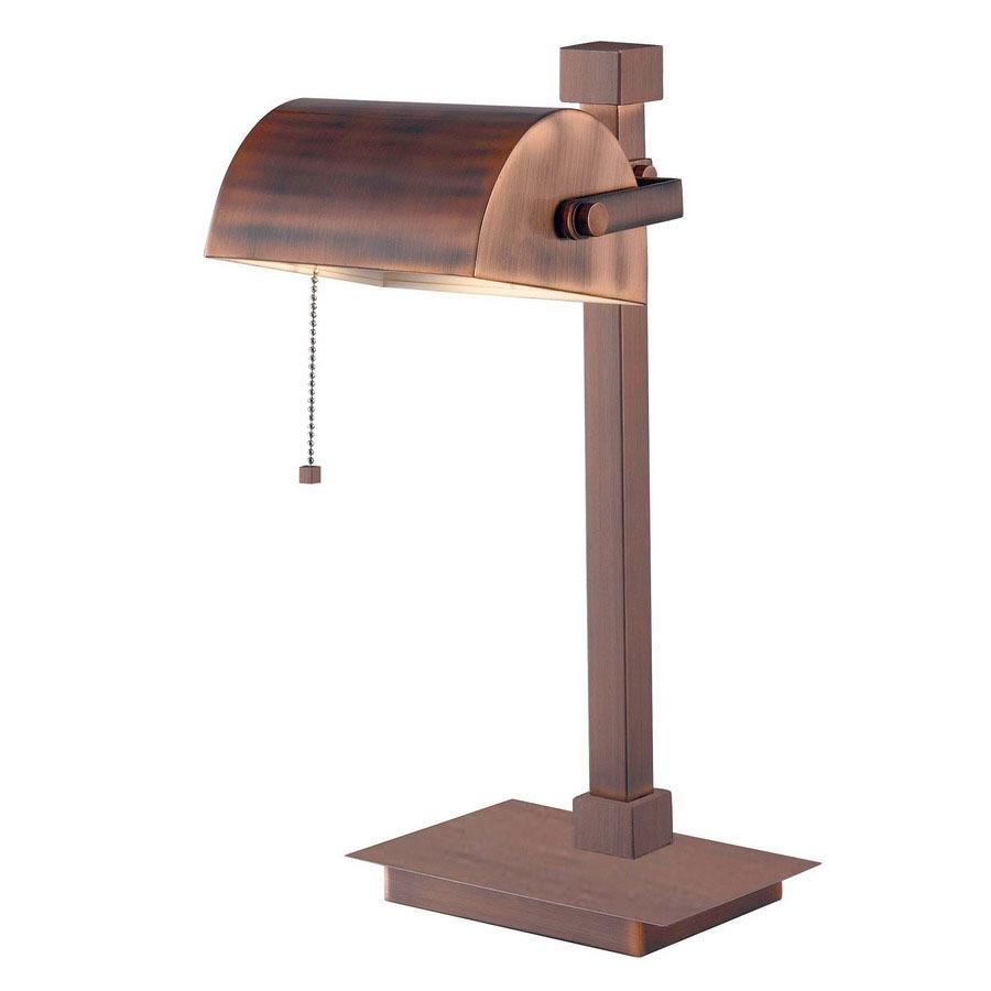 vintage copper touch desk lamp with metal shade at. Black Bedroom Furniture Sets. Home Design Ideas