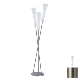 Paulmann 71-1/2-in Brushed Nickel Floor Lamp with Glass Shade