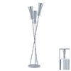 Paulmann 66-1/4-in 3-Light Chrome Floor Lamp with Biodola Aluminum Shade