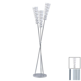 Paulmann 65-7/8-in 3-Light Chrome Floor Lamp with Biodola Opal Shade