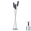 Paulmann 64-3/4-in 3-Light Chrome Floor Lamp with Livo Opal Shade