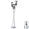 Paulmann 64-3/4-in 3-Light Chrome Floor Lamp with Cilento Black Shade