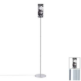 Paulmann 64-1/8-in Chrome Floor Lamp with Cilento Black Shade
