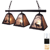 Steel Partners Elk 35-in W 3-Light Black Kitchen Island Light with Shade