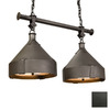Steel Partners Trulli 30-in W 2-Light Olde Iron Kitchen Island Light with Shade