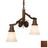 Steel Partners Pinecone Glacier 15.5-in W 2-Light Rust Kitchen Island Light with Shade