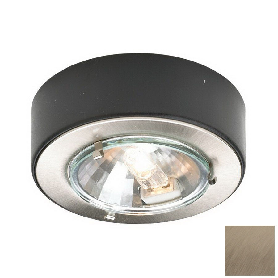 shop dals lighting hardwired plug in under cabinet halogen puck light. Black Bedroom Furniture Sets. Home Design Ideas