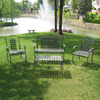 International Caravan 4-Piece Iron Patio Furniture Patio Conversation Set