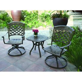 Darlee 3-Piece Sedona Bronze Aluminum Patio Conversation Sets