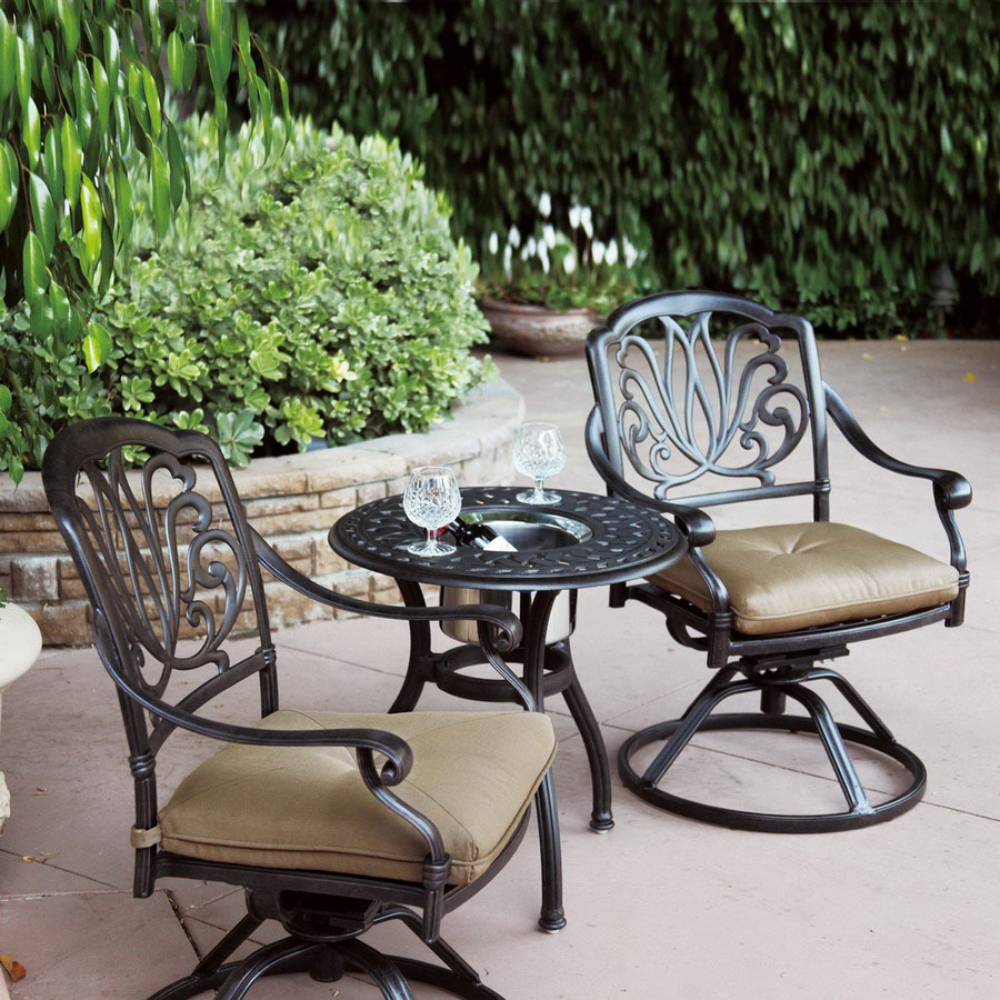 shop darlee 3 piece elisabeth bronze aluminum patio conversation set