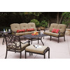 Darlee 6-Piece Santa Monica Patio Conversation Set