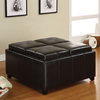Furniture of America Elvina Espresso Square Ottoman