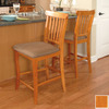 Atlantic Furniture Venetian Caramel Latte 25.5-in Counter Stool