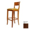 Alston Quality Industries Biedermeier Walnut 30-in Bar Stool
