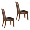 Homelegance Set of 2 Avalon Low Sheen Cherry Dining Chairs