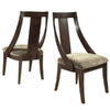 Somerton Home Furnishings Set of 2 Cirque Slipper Primavera Dining Chairs