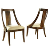 Somerton Home Furnishings Set of 2 Manhattan Walnut Brown Dining Chairs