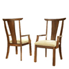 Somerton Home Furnishings Set of 2 Dakota Rich Brown Dining Chairs