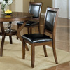 Monarch Specialties Set of 2 Dark Walnut Dining Chairs