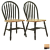 TMS Furniture Set of 2 Arrowback Black Dining Chairs