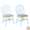 TMS Furniture Set of 2 Arrowback White Dining Chairs
