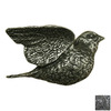 Anne at Home Bees Birds Butterflies Matte Pewter Novelty Cabinet Knob