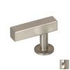 Lew's Hardware Brushed Nickel Bar Series Rectangular Cabinet Knob