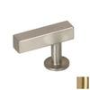 Lew's Hardware Brushed Brass Bar Series Rectangular Cabinet Knob
