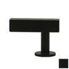 Lew's Hardware Matte Black Bar Series Rectangular Cabinet Knob