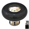 Cal Crystal Pewter Marble Round Cabinet Knob