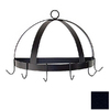 Grace Collection 20-in x 10-in Satin Black Half Dome Pot Rack