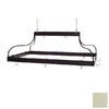 Grace Collection 36-in x 18-in Ivory Rectangle Pot Rack