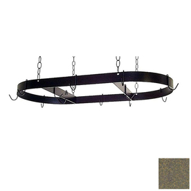 Grace Collection 36-in x 18-in Antique Bronze Oval Pot Rack