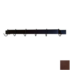 Grace Collection 36-in x 3-in Aged Iron Bar Pot Rack