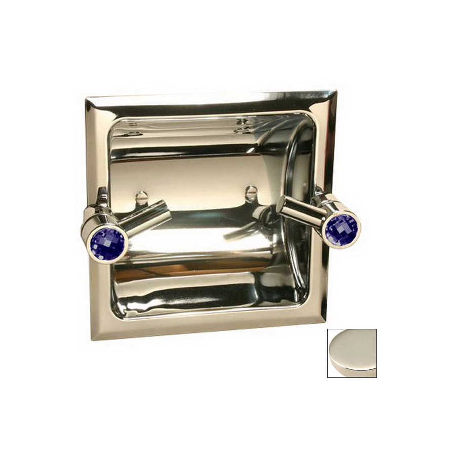 Shop paul decorative products paul classics polished nickel recessed toilet paper holder at - Recessed brushed nickel toilet paper holder ...