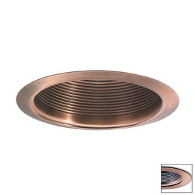 shop nora lighting copper open recessed light trim fits housing diameter 3. Black Bedroom Furniture Sets. Home Design Ideas