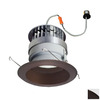 Nora Lighting 6-in Bronze Baffle Recessed Lighting Trim