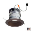 Nora Lighting 6-in Copper Baffle Recessed Lighting Trim