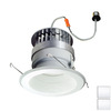Nora Lighting 6-in White Baffle Recessed Lighting Trim