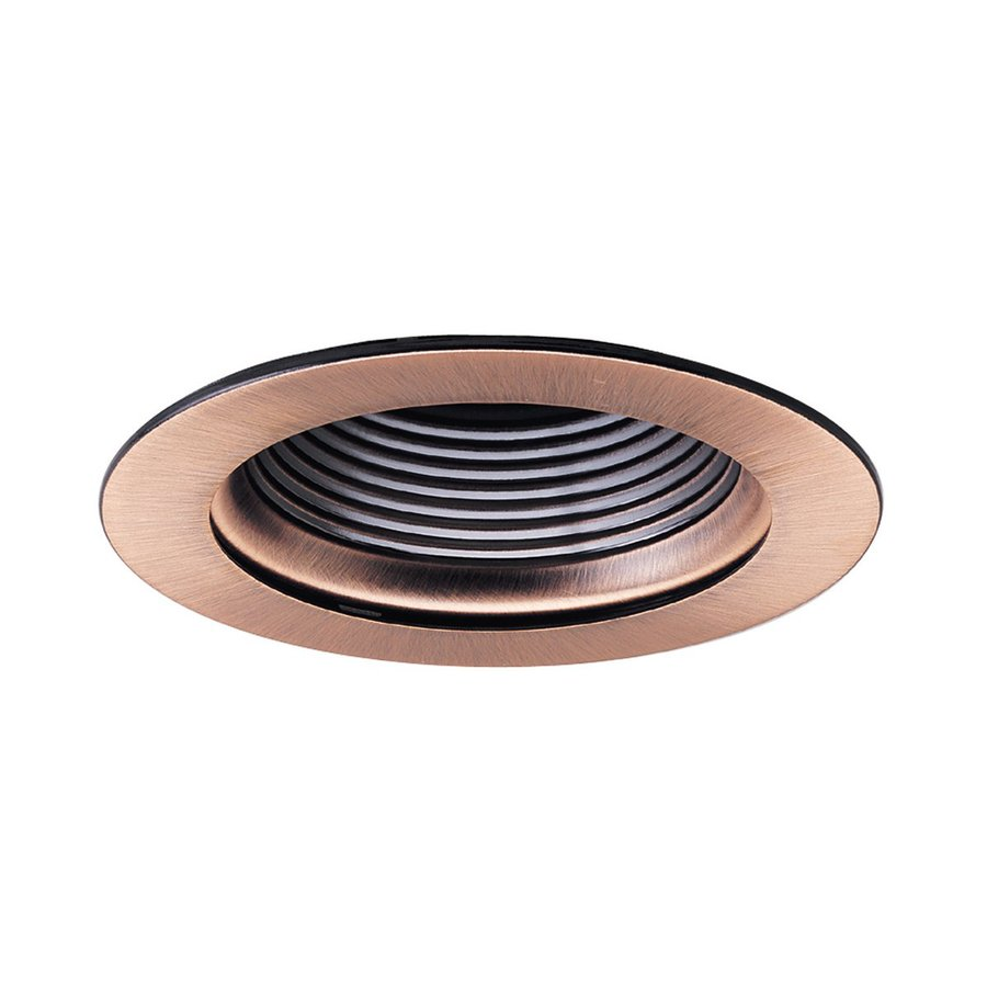 shop nora lighting copper baffle recessed light trim fits housing diameter. Black Bedroom Furniture Sets. Home Design Ideas