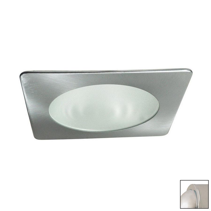 shop nora lighting 4 in chrome shower recessed lighting trim at lowes. Black Bedroom Furniture Sets. Home Design Ideas