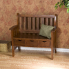 Boston Loft Furnishings Country Oak Indoor Storage Bench