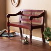 Southern Enterprises Classic Mahogany Entryway Bench