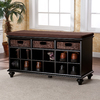Boston Loft Furnishings Chelmsford Black Indoor Storage Bench