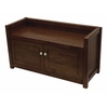 Winsome Wood Regalia Walnut Indoor Entryway Bench with Storage